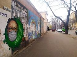 В Одессе появился мурал на тему коронавируса и Бродского (ФОТО)