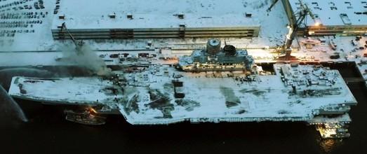 """Ремонт авианесущего крейсера """"Адмирал Кузнецов"""" как и ожидалось, зависает надолго"""