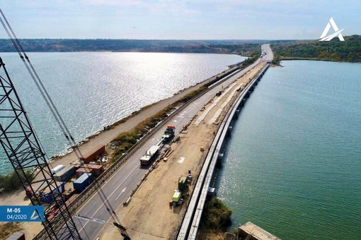 Кабмин выделил 100 миллионов на ремонт моста через Хаджибейский лиман на трассе Одесса-Киев