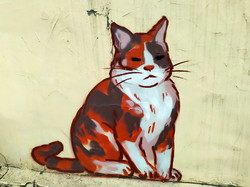 В Одессе поселились три нарисованных на стене кота (ФОТО)