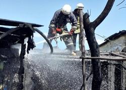В Одессе в районе Лузановки сгорела деревянная пристройка