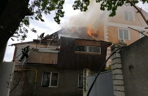 В Одессе на Фонтане горел двухэтажный жилой дом