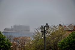 Как Одессу накрыл туман (ФОТО)