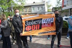 В Одессе второй раз митингуют предприниматели со Староконного рынка
