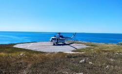 Пограничники впервые с 2008 года прилетели на вертолете на остров Змеиный