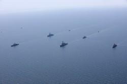 """Морские учения """"Си-Бриз"""" завершились эффектным строем кораблей (ФОТО, ВИДЕО)"""