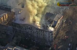 Сгоревший дом Асвадурова в Одессе обследуют, но только частично