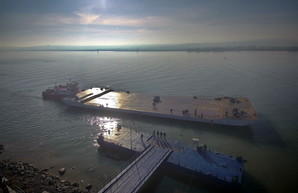 Паромная переправа через Дунай: первые итоги работы