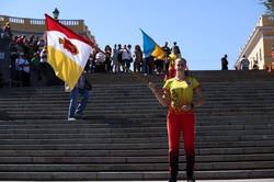 В Одессе бегали вверх по Потемкинской лестнице