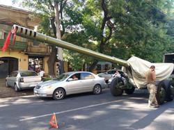 В Одессе случилось ДТП с участием тяжелой артиллерии