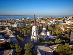 Одесса с высоты: Соборная площадь и Преображенский собор (ФОТО, ВИДЕО)