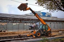 В Одессе на Новощепном Ряду начался очередной этап укладки трамвайных путей (ФОТО)