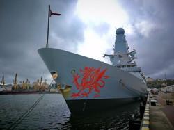 В Одессу зашел ракетный эсминец Королевского флота (ФОТО)