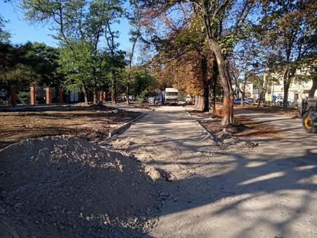 В Одессе уже идет ремонт Алексеевского сквера
