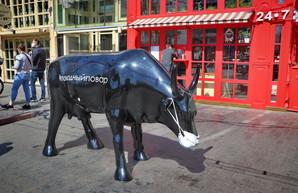 Знаменитой коровы в Одессе на Дерибасовской больше не будет
