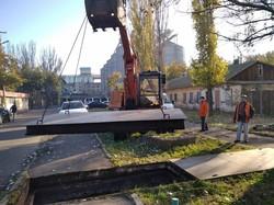 В Одессе прочистили ливневку на Пересыпи