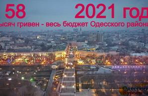 Цифра дня: бюджет Одесского района на целый год всего 58 тысяч