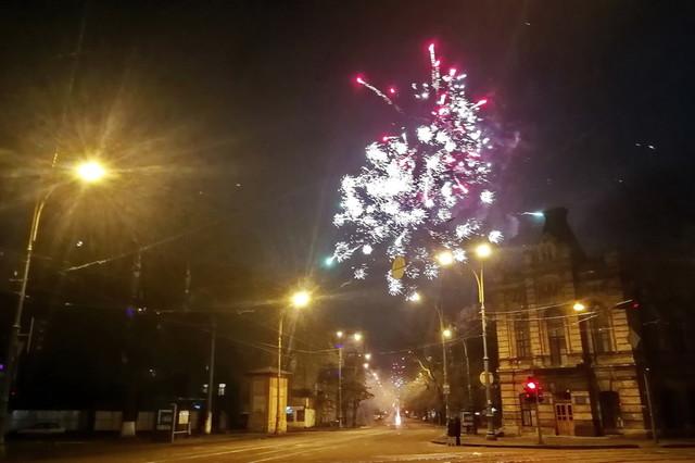 Как в Одессе прошла новогодняя ночь (ВИДЕО)