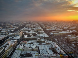 Заснеженная зимняя Одесса: как выглядит город с высоты (ФОТО, ВИДЕО)
