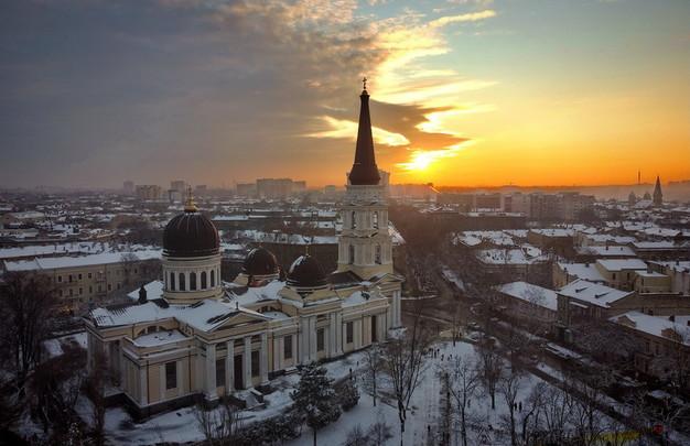 Заснеженная зимняя Одесса с высоты (ФОТО, ВИДЕО)