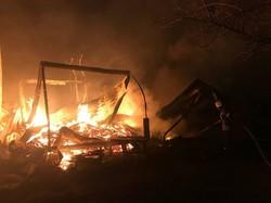 Около города Южный сгорела база отдыха