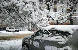 В Одессе наступил коллапс во время снежного циклона
