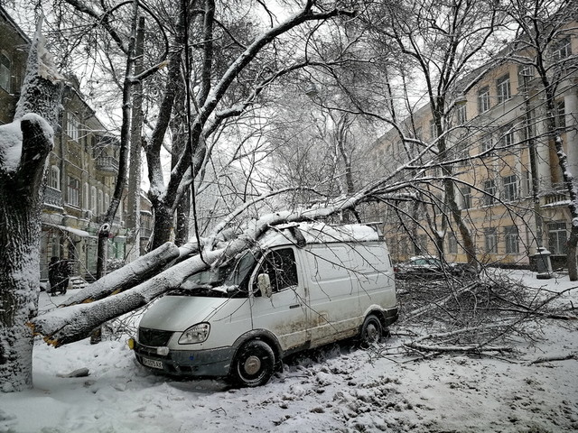 Обледенение оставило без света 44 населенных пункта в Одесской области