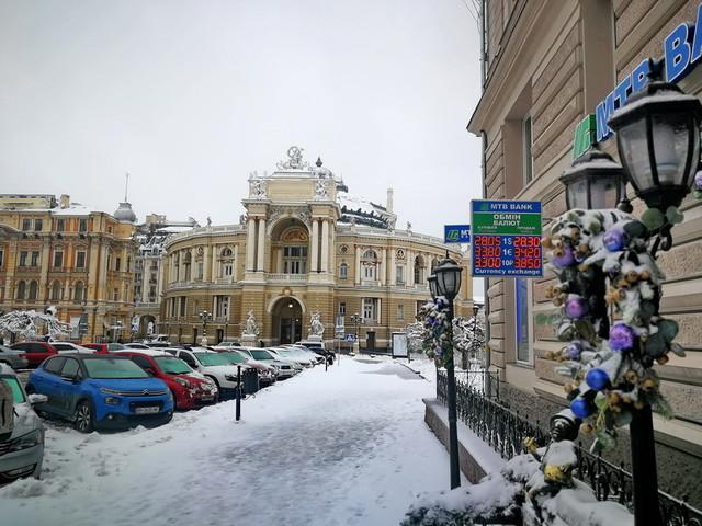 Как Одесса встретила очередное зимнее похолодание