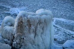 Ледяной закат в Одессе: берега Хаджибейского лимана замерзли (ФОТО, ВИДЕО)