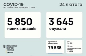 Коронавирус 24 февраля: 215 новых случаев в Одесской области