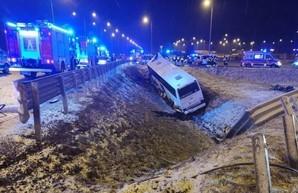 Разбился автобус с украинскими пассажирами
