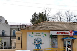 В Одессе нарисовали мурал в честь врачей, спасающих мир от ковида