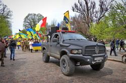 В Одессе прошел марш защитников города от российской агрессии