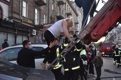В Одессе горел ресторан в центре города