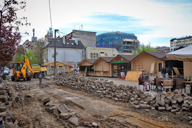 В центре Одессы сносят ярмарку