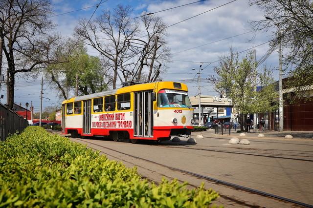 В Одесском трамвае можно увидеть фотовыставку ко дню победы во Второй мировой войне (ВИДЕО)