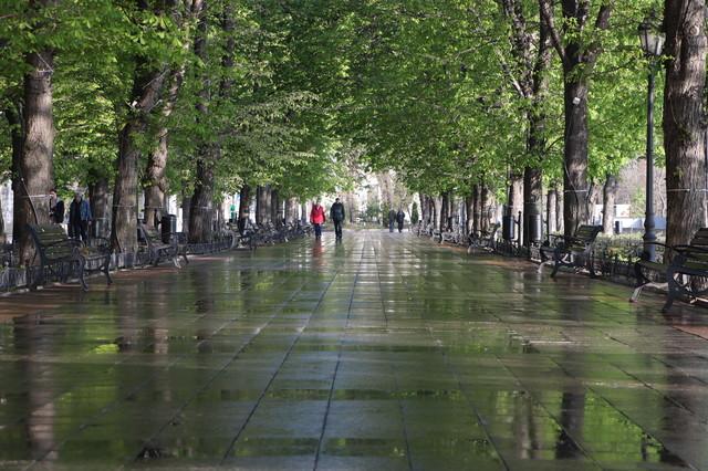 В Одессе начали ремонтировать плитку на Приморском бульваре