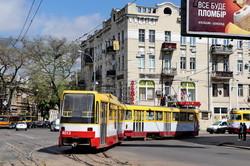 В Одессе сошел с рельс трамвай