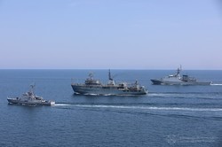 В море под Одессой прошли совместные учения военных флотов Украины и Великобритании