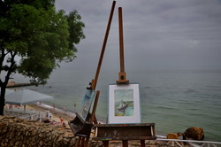 В Одессе над морем устроили художественную выставку (ФОТО)