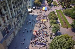 Марш вышиванок прошел по Одессе: его показали с высоты (ФОТО, ВИДЕО)
