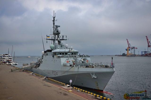 """В Одессу снова идет британский патрульный корабль """"Трент"""""""