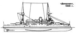 """""""Деодору"""", 1905 г., схема из журнала """"Морская коллекция"""""""