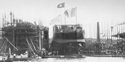 """Спуск на воду броненосца """"Деодору"""" 18.06.1898, Тулон"""