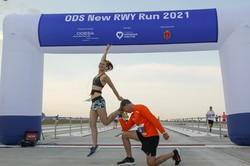 Новая взлетная полоса одесского аэропорта стала спортивной ареной