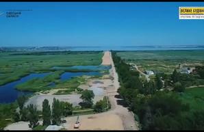 Как идет строительство новой дороги в порт Одессы (ФОТО)