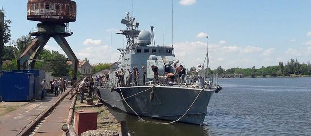 Для ВМС Украины отремонтировали ракетный катер и тральщик