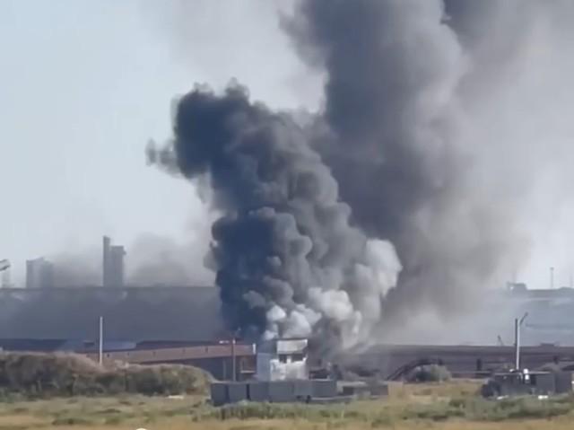 Под Одессой произошел сильный пожар на портовых складах