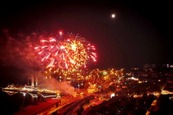 Салют в Одессе на День Независимости показали с высоты (ФОТО, ВИДЕО)