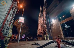 Пожар: горел католический костел в столице